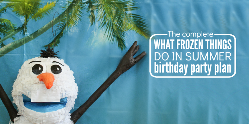 What Frozen Things Do in Summer Birthday Party
