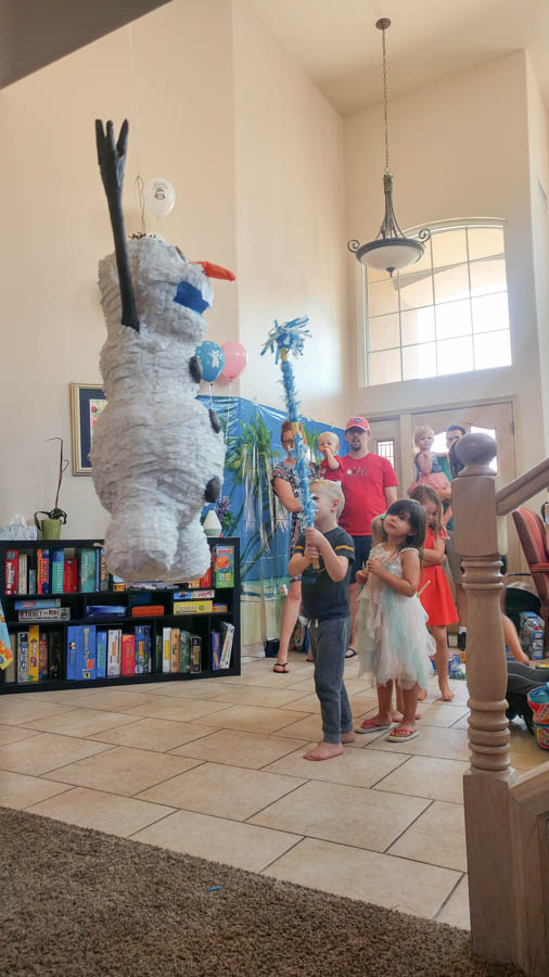 Olaf Pinata for Birthday