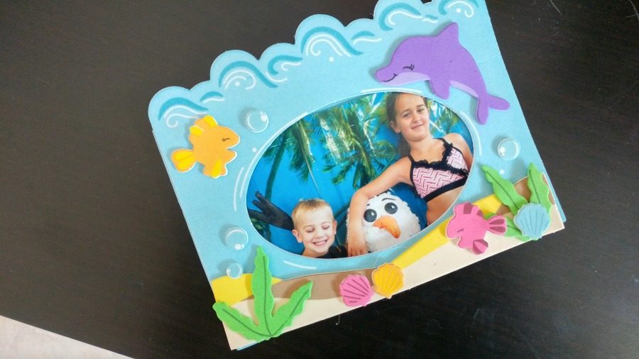 Stick on picture frames for Olaf party