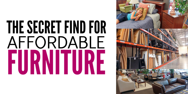 A Secret Find for Affordable Furniture