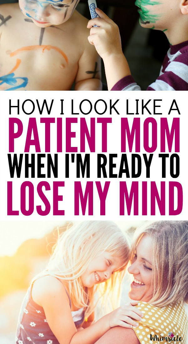 Want to look like a more patient mom when you're ready to lose your mind? These 3 tips will help you relax and be more patient with your kids. How to relax, destress and handle any hard afternoon like a pro.