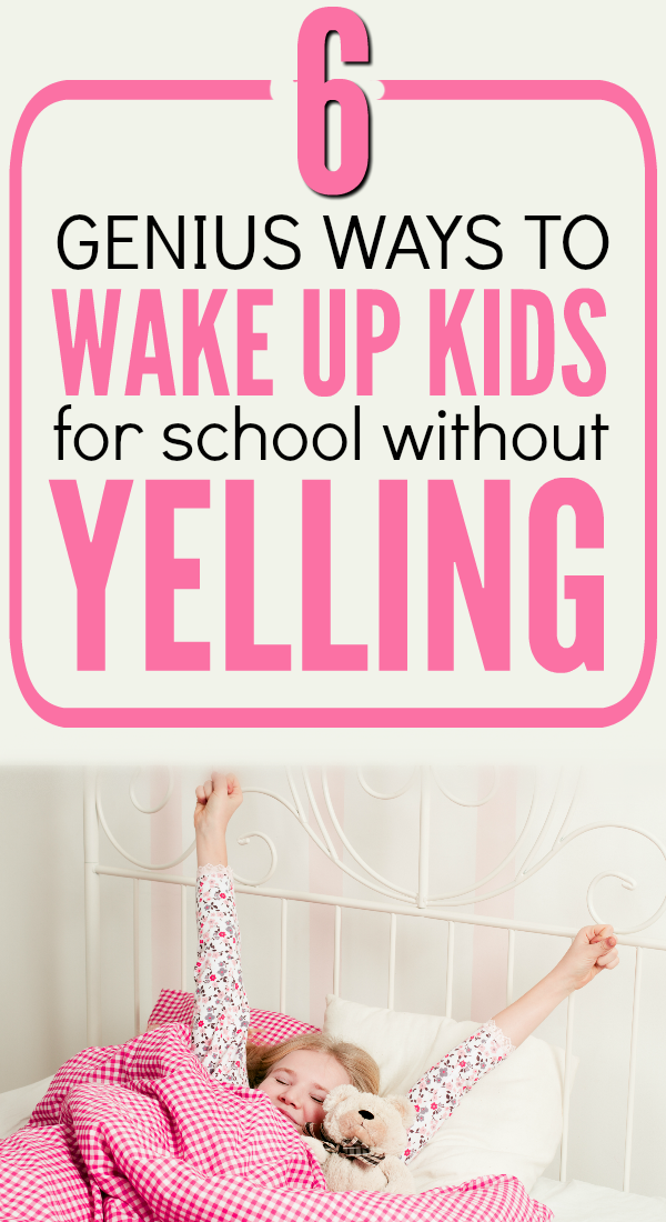 Ready to rock your back-to-school morning routine? Here are 6 simple ways to wake up kids for school. I use these to make my morning stress free.