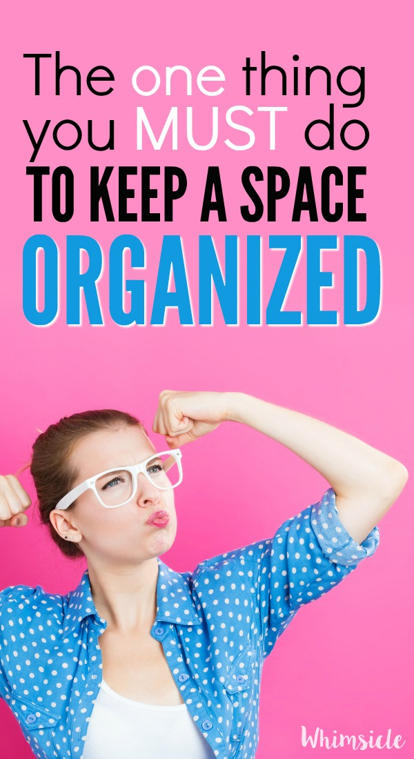 The system I use to get and stay organized. Works perfectly every time and the clutter never returns to that spot! You don't need a bunch of organization hacks. Just do this!