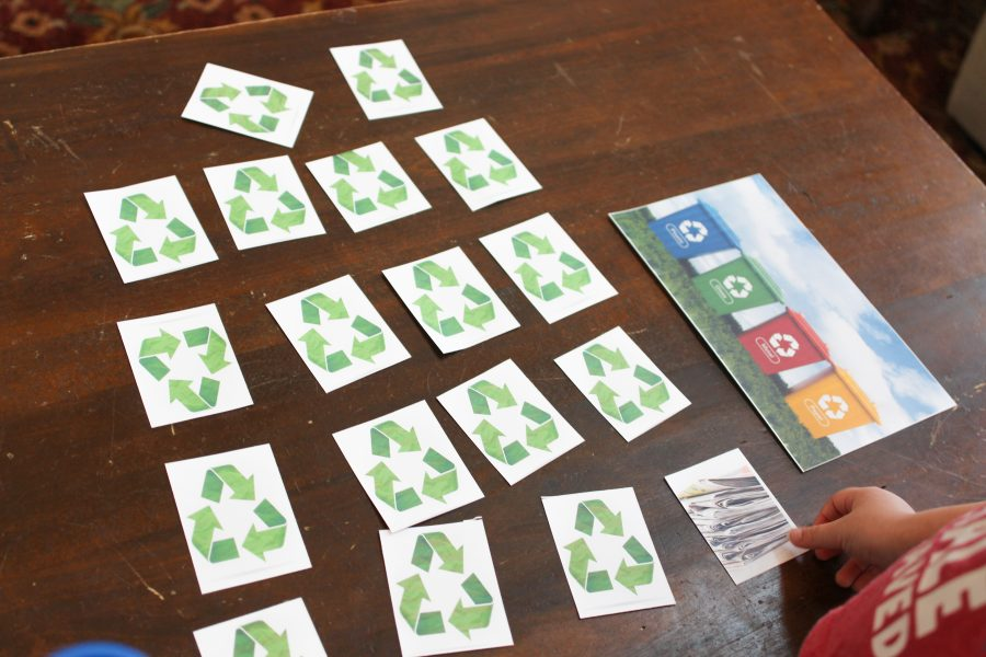 Free recycle sorting game for kids