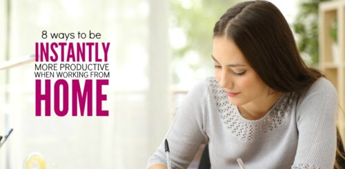 Time management is hard at home with kids. How do you create an effective work at home routine? This is your answer on how to stay focused and avoid distractions!