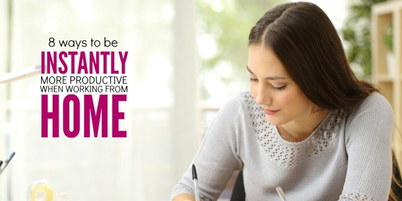 Working from Home Tips: 8 time saving moves for moms