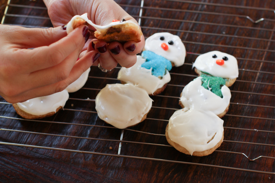 Chocolate Stuffed Sugar Cookie Snowmen No Guilt Mom