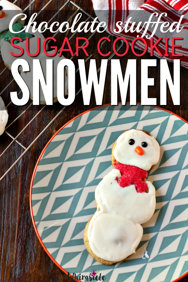 Need a fun kids Christmas cookie?  This is best holiday snowman cookie made of delicious Pillsbury™ Sugar cookie dough.  Super easy cookie gift idea! #ad