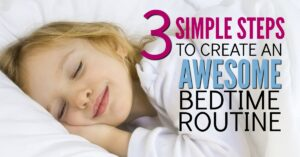 You know you need a bedtime routine for your kids. But where to start? Here's a simple system you can start right now complete with free routine cards to print out and use tonight.
