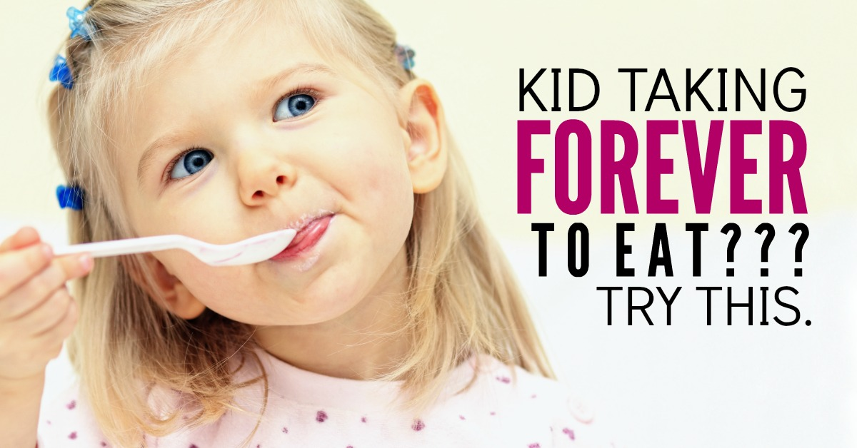 Your slow eater kid stresses you out!! They take forever to eat and you are DONE! These 4 tips will take the pressure out of meal time. There's even hope for picky eaters.