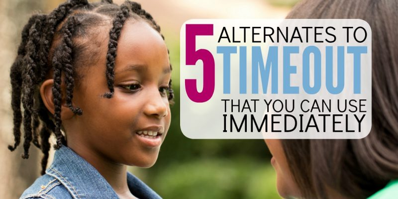 5 Alternatives to Timeout that you can use immediately for discipline!