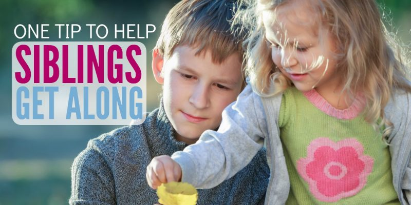 One Powerful Tip to Help Siblings Get Along (Most parents do this wrong)
