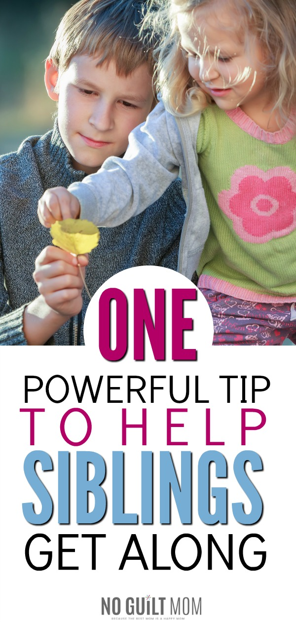 Wondering how to make siblings get along? Whoa! I am so glad I read this! Of all the ideas to encourage sibling relationships, this one simple tip will rock your world! Building sibling relationships means taking down all the barriers to them being friends.