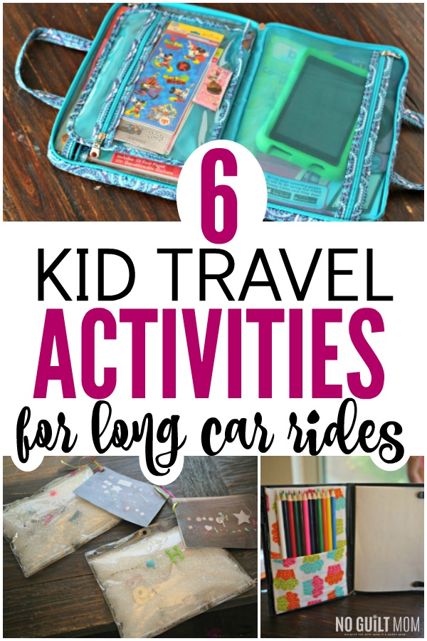 Of all the kids travel activities for the car, these are no-mess with very few pieces to keep track of. The perfect ideas for traveling with children and keeping them busy during family trips. When we parents go on vacations or summer family trips we need to be prepared. These work for preschoolers, kindergarteners, or school-aged kids!