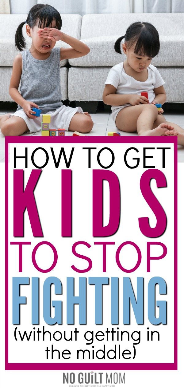 Sibling rivalry drives me insane!  Of all the parenting ideas on how to make siblings get along, these three steps are the only method that brings lasting peace in my house.  Totally recommend it if you want to stop sibling rivalry between your children and encourage kids to get along.
