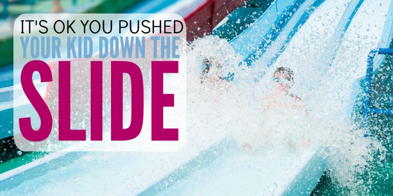 It's OK you pushed your child down the waterslide: Encouraging a growth mindset in your kids
