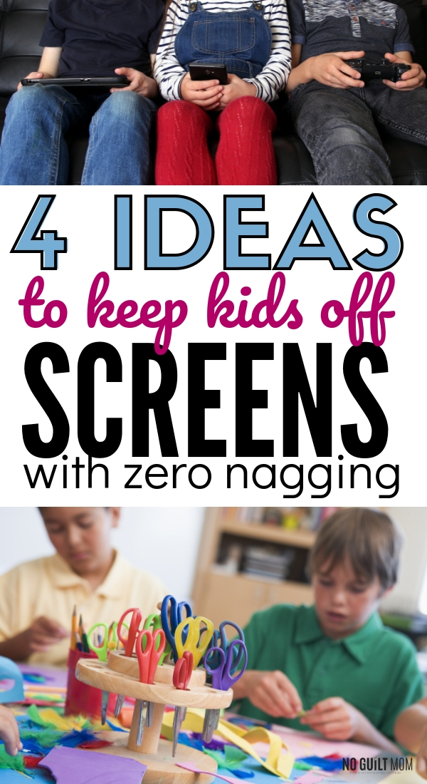 How do you keep your kids off screens this summer? These 4 tips will change all discipline around screen time. Great parenting advice if you are tired of all the screen time rules and contracts.
