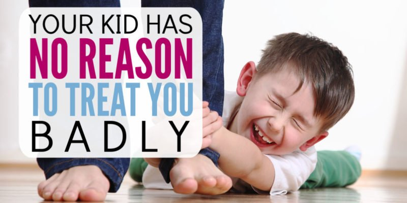 Your kids are NEVER justified for treating you badly