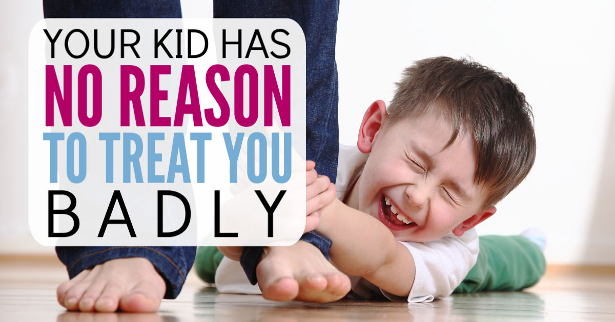 Your kids are NEVER justified for treating you badly - No