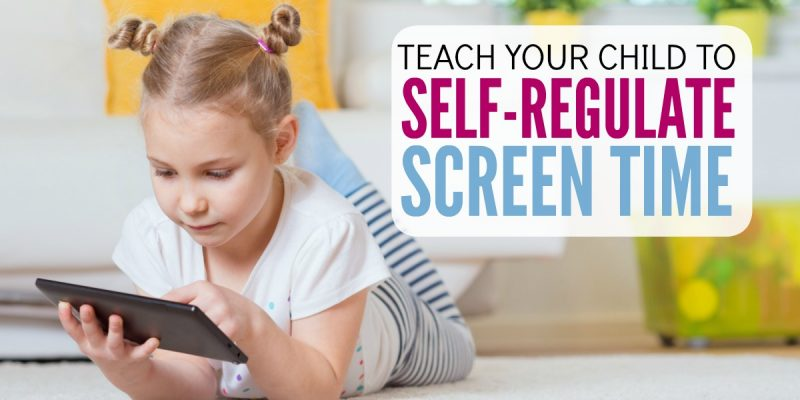 Teach Kids to self-regulate their own screen time