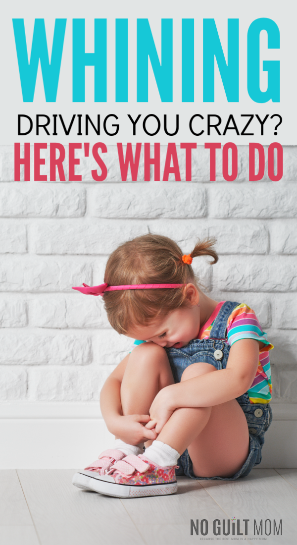 OMG! I cannot stand it when my kids whine! These 3 tips help me get my emotions under control so that I can teach my children how to best control theirs. Excellent parenting advice for moms and dad of preschoolers, toddlers and even elementary-age kids.