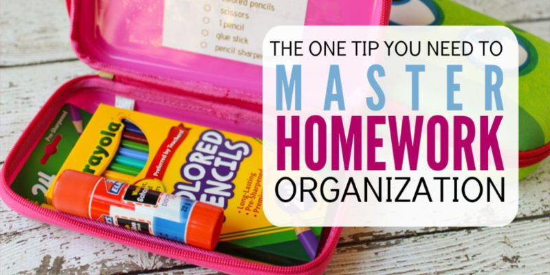 The one tip you need to master your kid's homework organization