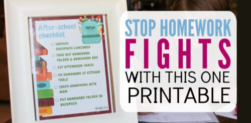 My kids fight me about everything when it comes to homework. This after school checklist is perfect for parents who want a simpler afternoon routine. Cute printable with amazing tips that is excellent for elementary school students.