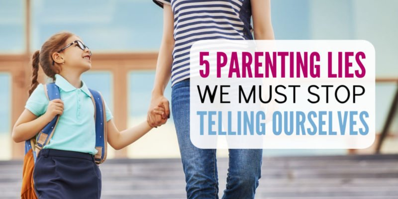 Oh, the mom guilt!! I tell myself these lies all the time and was shocked to find out they do nothing to raise well adjusted children. If you want more resilient and happy kids, you need these parenting tips!