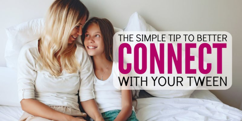 Wow! Dealing with a moody tween can suck all the energy out of my afternoon. However, this simple tip helped me better connect with my child. No girl drama. No tantrum. No emotional outbursts. Best parenting idea I've tried out in a while! Great for moms and daughters.