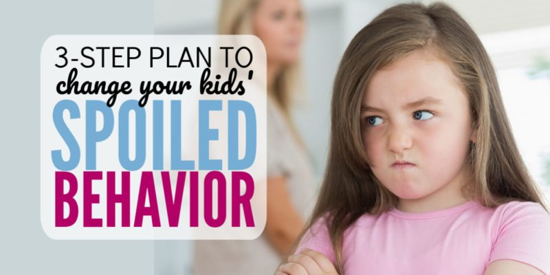 How do I unspoil my kids? One of my biggest parenting frustrations comes from children acting entitled. I love this 3-step parenting plan I can use with elementary school aged kiddos. Great parenting life tips for exhausted moms.