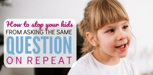 OMG! When my daughter asks me the same question over and over it drives me insane. Most parenting tips tell you to remain calm, however this idea works so much better! It makes me a happier mom and my kids learn how nagging effects others