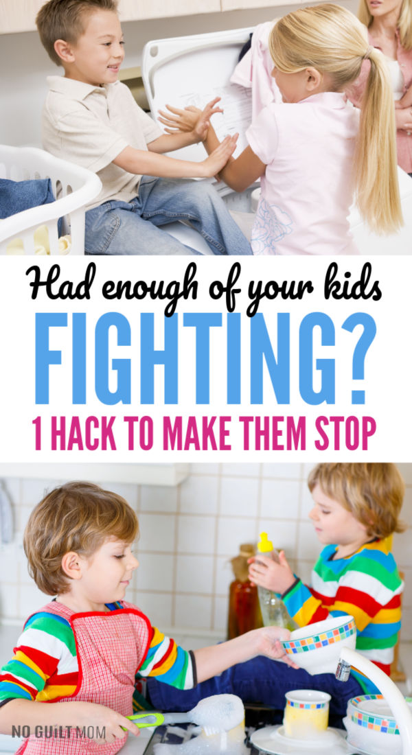 Had enough of your kids fighting? 1 hack that will make them stop