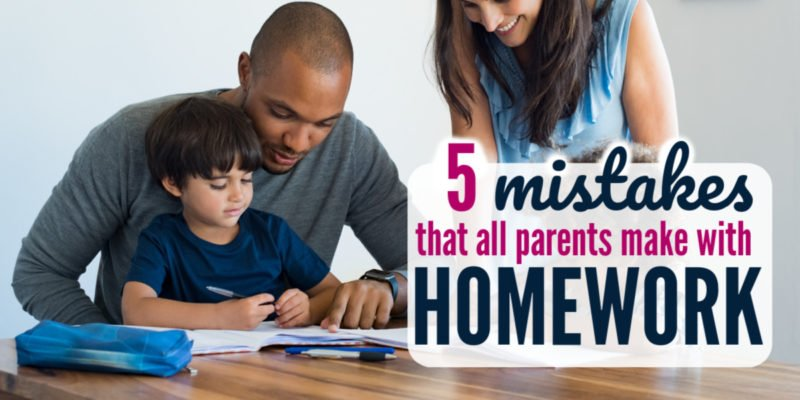 5 Mistakes Every Parent Makes with Homework