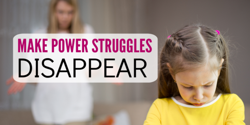 Power struggles with kids are so draining!! This advice for moms works so well! Not only will the fighting with your child decrease, but you'll actually see them listening more and have less defiant behavior. Great parenting tips for parents of preschoolers and elementary school kids.