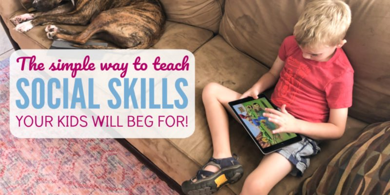 The Simple Activity to Teach Social Skills that your kids will beg for