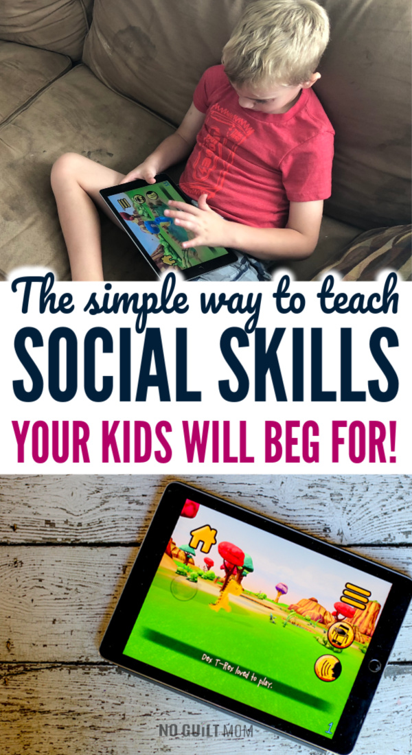 OMG! Social skills activities for kids usually require tons of prep work, but this requires none. This early childhood app teaches children self-control, self regulation and the consequences of rough actions.