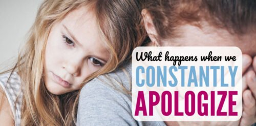 """Do you feel like you have to apologize for everything? Me too. My heart broke when I saw my tween daughter act the same way. These two parenting tips helped me teach her more confidence and stop the constant """"I'm sorrys"""" from both my kids."""