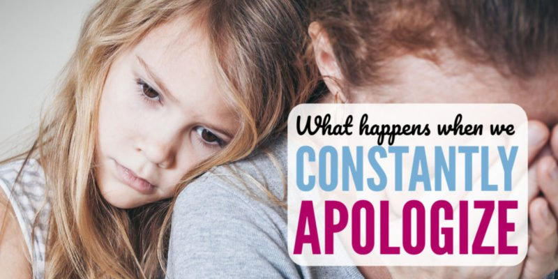 "Do you feel like you have to apologize for everything? Me too. My heart broke when I saw my tween daughter act the same way. These two parenting tips helped me teach her more confidence and stop the constant ""I'm sorrys"" from both my kids."