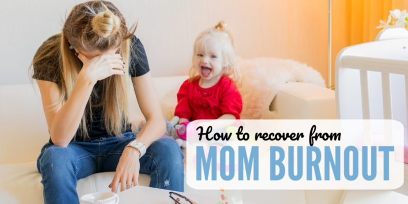Tired, overwhelmed and exhausted? These four tips helped me get out of my mom burnout funk and recover. Perfect encouragement on how to overcome the guilt and practice self-care.