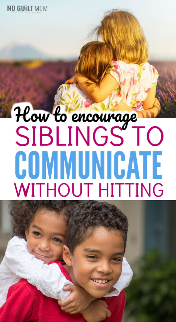 Siblings hitting each other drives us moms crazy!  This simple solution will give you appropriate consequences for your children and help your son or daughter stop hitting his brother or sister.  This parenting idea uses positive discipline to help change behavior.
