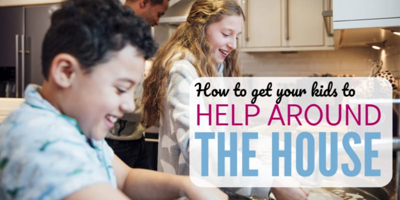 Why do family chores always seem to fall to mom? Here's a failproof way to get kids helping around the house and what to do when they resist. Beyond a chore chart or list, this method works for preschoolers, elementary aged kids, and middle schoolers. This parenting tip will the best idea you try this year!
