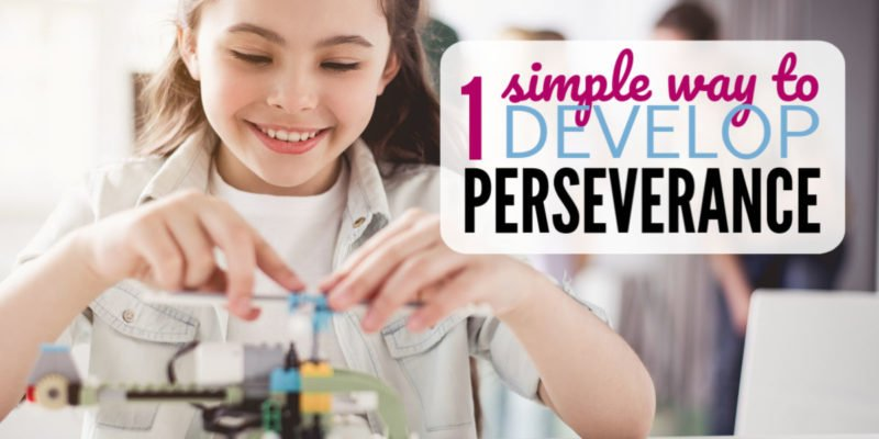 Developing persistence in kids can be a tough parenting task. But this one simple tip will help encourage the growth mindset and raise children with grit willing to tackle anything!