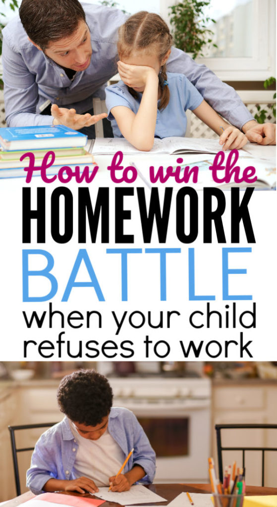 All the homework fights are draining!  How do you stop the nightly homework battle while still keeping the peace in your home? This parenting tip is perfect for moms of stubborn kids who refuse to do anything you suggest.