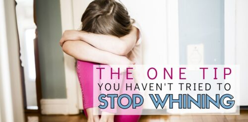You've tried all the positive discipline tips and yet your child still whines. This simple tip gives you a way to handle anger as a mom as well as teach your kids to stop whining.