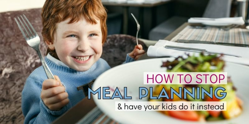 Have picky eaters in your home? This idea has saved so much frustration. Instead of searching for kid-friendly meal ideas, why not have your kids create the meal plan… and shop for it? Great advice for moms! This is a meal planning idea tip that is super easy to stick with.